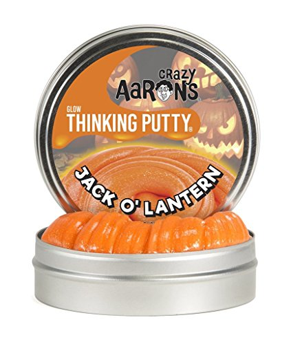 Crazy Aaron's Thinking Putty, 3.2 Ounce, Jack O' (Halloween Party Games For Elementary School)