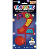 Flashing Multicolor Number 2 Cake Topper Decoration