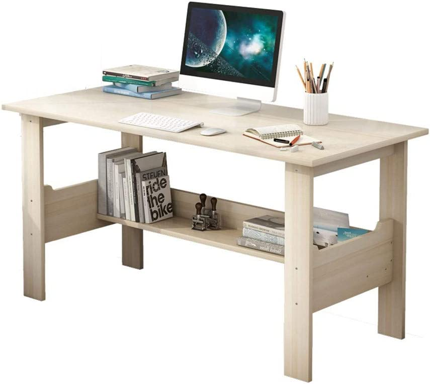 Home Desktop Computer Desk Bedroom Laptop Study Table Office Desk Workstation,Large Office Desk Computer Table,Easy to Assemble (White 39.4inch)
