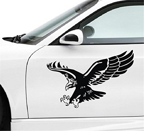 Self Adhesive Graphic (Fochutech 1pc Car Auto Body Sticker Engine Hood Eagle Self-Adhesive Side Truck Vinyl Graphics Decals (15.74x11.81