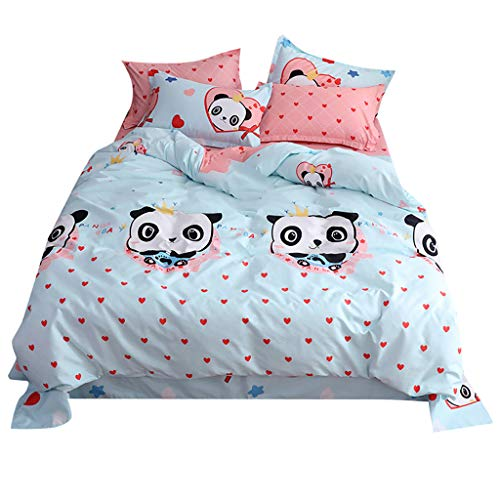 4Pcs Bedding Set, Panda Baby Printed Bedclothes Suit for