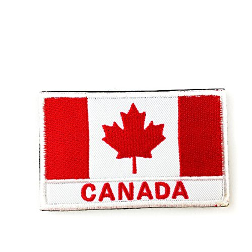 Chic National Flag Emblem Patch Armband Embroidered Patch Canada