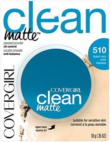 COVERGIRL Clean Matte Pressed Powder Classic Ivory Warm 510 , .35 oz