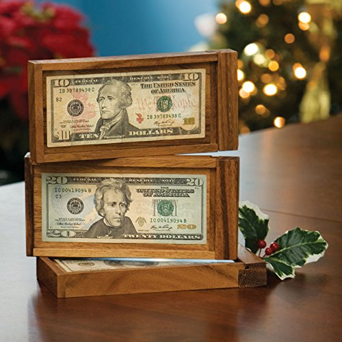 (Bits and Pieces - Magic Money Wooden Currency Gift - Brainteaser Puzzle - Fun Way to Give a Gift of Money)