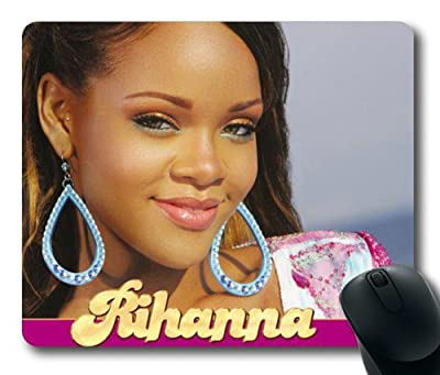 Customizablestyle Famous Singer Rihanna-8 Mousepad, Customized Rectangle DIY Mouse Pad