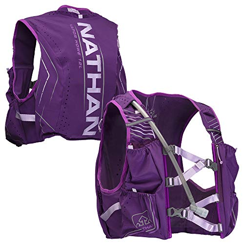 Nathan Women s Hydration Pack Running Vest – VaporHowe 2.0-12L Capacity with 1.6 L Water Bladder, Hydration Backpack – Running, Marathon, Hiking, Outdoors, Cycling and More
