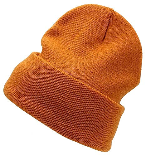 Cap911 Unisex Plain 12 inch long Beanie - Many Colors (One Size, Dark Orange)