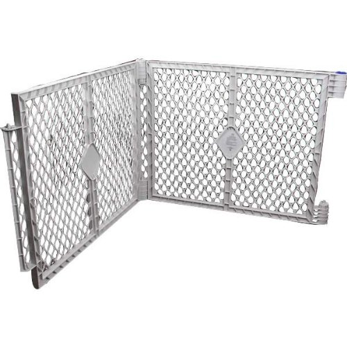 Pet Yard Plastic Exercise Pen Expansion Panel, 2-Piece, Gray Discontinued by Manufacturer