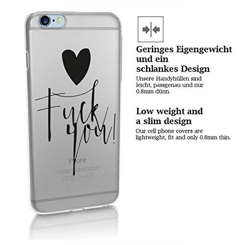 finoo | iPhone 7 Hard Case Handy-Hülle mit Motiv | dünne stoßfeste Schutz-Cover Tasche in Premium Qualität | Premium Case für Dein Smartphone| Fuck you