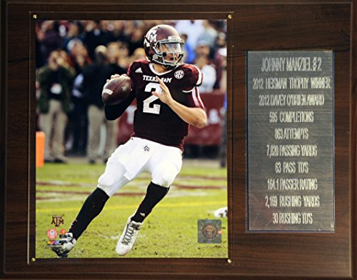 C&I Collectables NCAA Texas A&M Aggies Johnny Manziel Football 12 x 15-Inch Career Stat Plaque from C&I Collectables