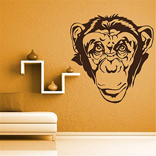 Vinyl Wall Decal Quote Stickers Home Decoration Wall Art Mural Monkey Head for Living Room Bedroom Kids Room