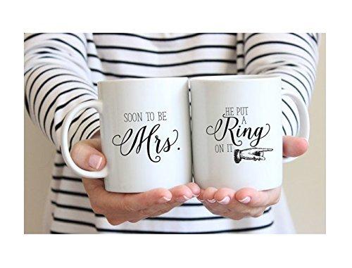 Soon to be Mrs Mug | He Put a Ring on it Coffee Mug | Future Mrs Mug | Engagement Mug Gift | Couple Gift | Coffee Tea Mug | 11oz 15oz