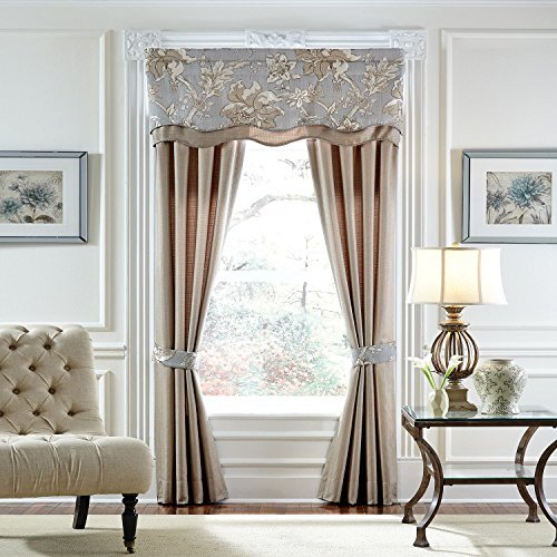 Estate By Croscill Alexandria Layered Scalloped Valance - 52'' X (Layered Scalloped Valance)