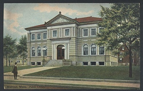 Melrose Public Library Massachusetts Vintage Postcard ()