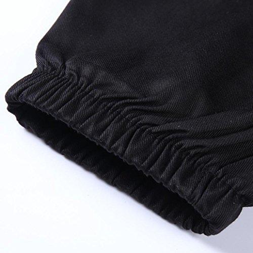 Jogging Couleur Casual Noir Outdoor Taille À Long Pantalons Zipper Chic Hommes Mode M Pure Slim De Pantalons Sportwear Pantalon Coton Sports En Poutre 3xl Patchwork Pied Adeshop CqAZzx6w