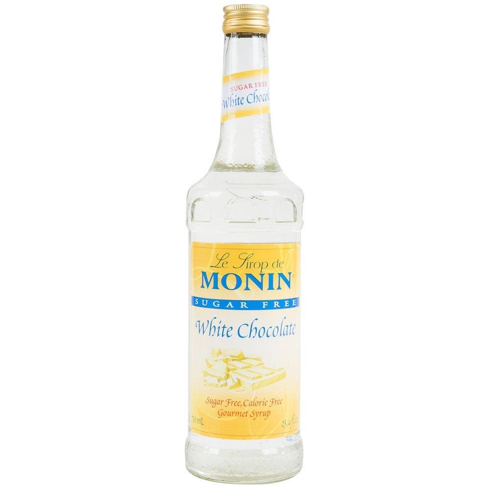 Monin Sugar Free White Chocolate Syrup, 750 ml