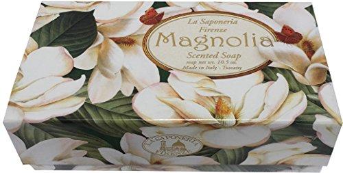 - Saponificio Artigianale Fiorentino White Magnolia Single Soap Bar 10.5 Oz. From Italy