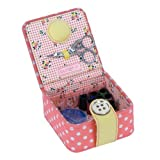 BUTTON IT- NEW FOR 2014 ? Honey Pot Coral Pink Polka Dot Starter Kit with Floral Lining