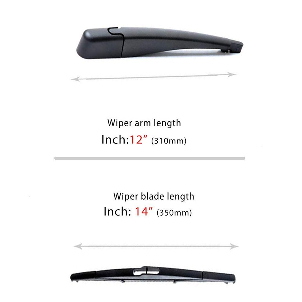 9T4Z-17526-A Rear Wiper Arm Blade Cover Cap Kit for 2007-2014 Lincoln MKX Replace OE 9T4Z17526-A