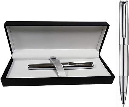 Estuche con Bolígrafo Inoxcrom Mini Naked Cromado Excellence: Amazon.es: Oficina y papelería