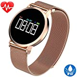 Women's Smart Watch for iPhone Android Fitness Tracker HR IP67 Waterproof Bracelet with Heart Rate Blood Pressure Sleep Monitor Pedometer Activity Tracker Sport Swim Wristband Birthday Gifts