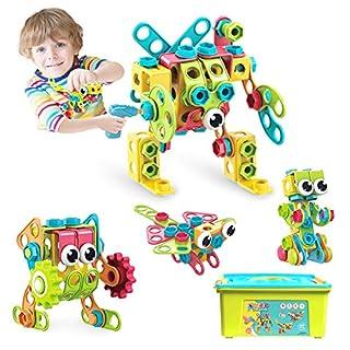 HOMOFY Kids Building Toys Kit Stem Toys Construction Engineering Brickyard Building Blocks Best Kids Gift for Ages 3 4 5 6 7 8 Year Old Boys & Girls