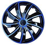 Wheel Trims Set of 4 Quad Bicolor Blue covers (16')