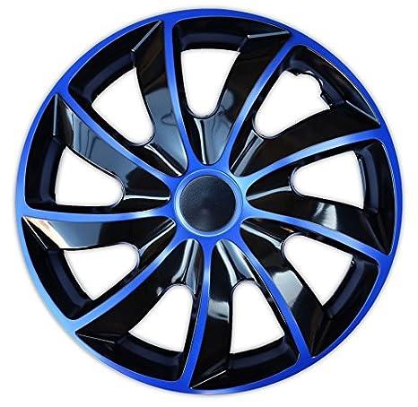 16 Wheel Trims Set of 4 Quad Bicolor Blue covers
