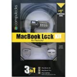 Maclocks MBLDGCLKIT 3 in 1 MacBook Air/Pro Ledge Kit With 2 Ledge Lock Slot Adapters/Combination Cable Lock