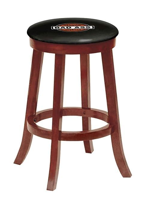 Amazon.com: Taburete de bar de madera con acabado de cerezo ...