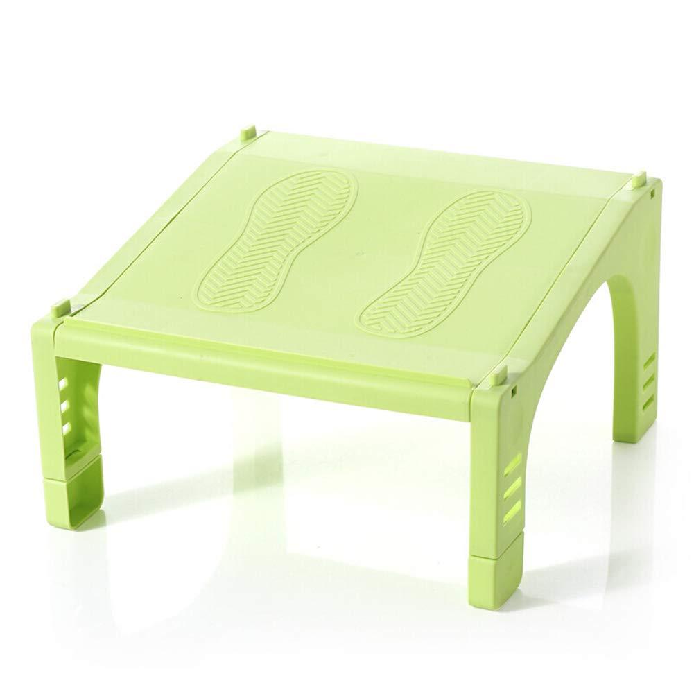 JIANFEI Shoe Shelf Rack Multifunction One-Piece Small Footprint ABS Material Tough 5 Colors (Color : Green, Size : 26x26x13.35cm)