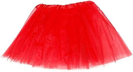 fatteryu - Falda de tutú de Tres Capas para Mujer, 12 Colores, R ...