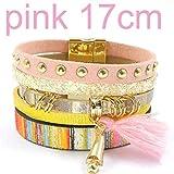 Ty-BLACK Fashion bracelets Bohemian bracelets&banglesjewelry pink size 17CM