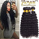 Brazilian Pineapple Deep Wave 4 Bundles 10A Brazilian Virgin Deep Wave Human Hair Bundles 100% Unprocessed Remy Virgin Hair Bundles Natural Color (24''26''28''30'')