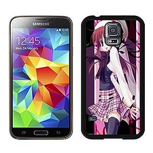 Fashion Custom Designed school cute anime girl Samsung Galaxy S5 I9600 Black Phone Case CR-567