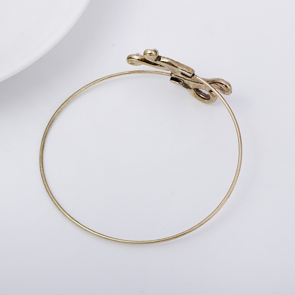 RUXIANG Octopus Foot Sea Animal Bangle Open Wire Cuff Bracelet Jewelry