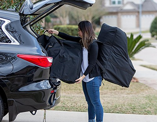 ZOHZO Car Seat Travel Bag — Adjustable, Padded Backpack for Car Seats — Car Seat Travel Tote — Save Money, Make Traveling Easier — Compatible with Most Name Brand Car Seats (Black with Black Trim) by Zohzo (Image #9)