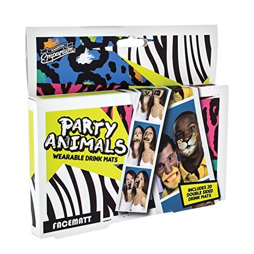 - Paladone The Emporium Party Animal Face Coasters