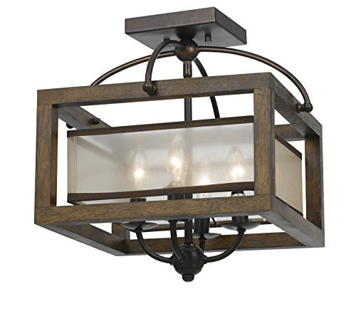 Cal Lighting FX-3536/1C, 16x16x16, Dark Bronze/Stained Reddish Brown from Cal