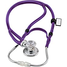 MDF® Sprague-X Redesigned Sprague Rappaport Stethoscope with Adult, Pediatric, and Infant convertible chestpiece - Purple (MDF767X-08)