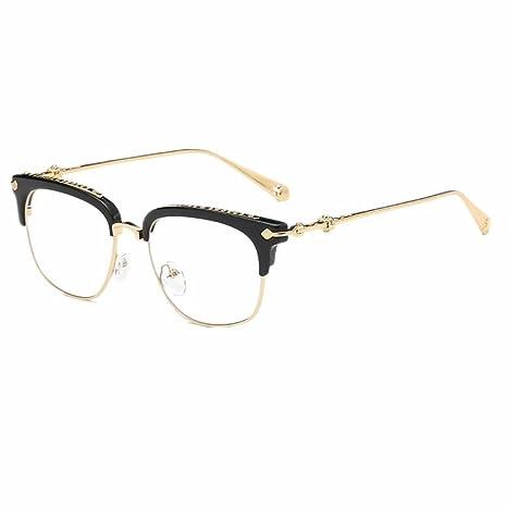 Shiratori Classic Vintage Retro Half Frame Horn Rimmed Clubmaster Optics 50mm Clear Lens Glasses by Shiratori