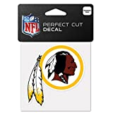 WinCraft NFL Washington Redskins 63102011 Perfect Cut Color Decal, 4″ x 4″, Black