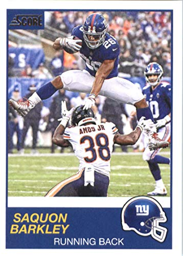 2019 Score Football #174 Saquon Barkley New York Giants Official NFL Trading Card From Panini