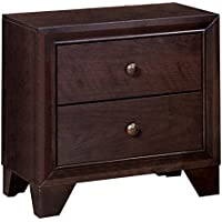 Homelegance Kari Two-Drawer Nightstand, Warm Cherry