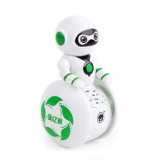 TOOMD Il Robot Musicale Intelligente per Bambini,Bilancia Automatica con Robot rotanti Giocattoli elettronici con luci e Suoni,è Il miglior Regalo per Lo della Prima educazione,Natale,Green