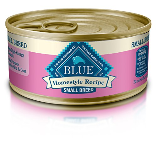 Blue Buffalo Homestyle Recipe Natural Adult Small Breed Wet Dog Food, Chicken 5.5-oz can (Pack of 24) (Food Breed Small Blue Dog)