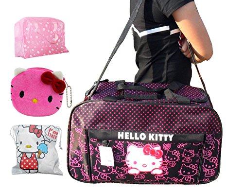 Hello Kitty Travel Bag Ultra-large Capacity Carry on Holdall Shoulderbag /Handbag,pink (Purple)