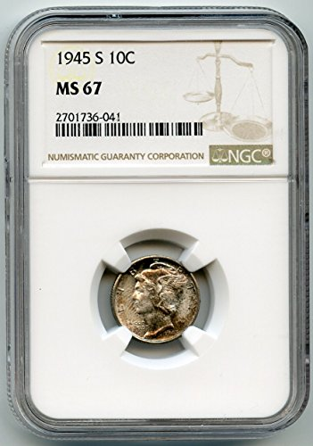 1945 S Mercury Dime MS-67 NGC