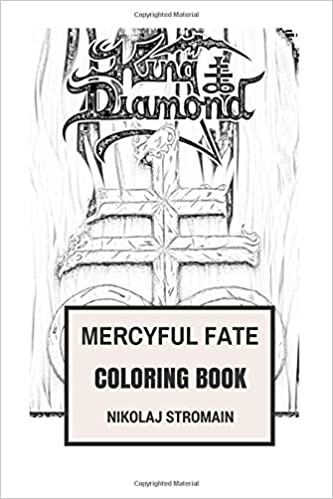mercyful fate coloring book black metal and occult satanic music pionners and godfather of extreme showman king diamond inspired adult coloring book - Satanic Coloring Book