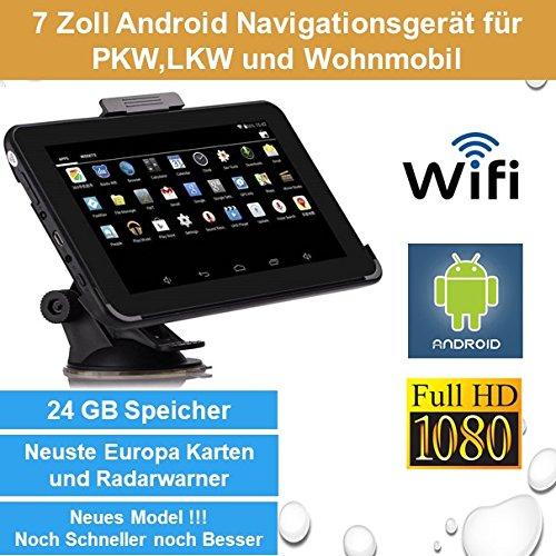 Elebest 17, 8cm 7 Zoll Android, GPS, Navigationsgerä t, Navigation, WiFi, Tablet PC, Internet, Wohnmobil, LKW, PKW, 24GB Speicher, HD Display, AV-IN, Radarwarner, Kostenlose Kartenupdate ELEBEST AN-7443
